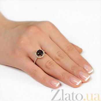 Золотое кольцо София с раухтопазом и фианитами EDM--КД4039РАУХТОПАЗ