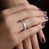 Золотое обручальное кольцо Идеал в комбинированном цвете металла