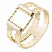 Кольцо из желтого золота Движение