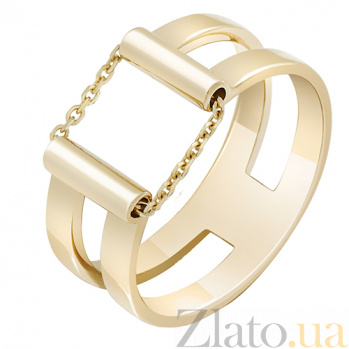 Кольцо из желтого золота Движение 000032644