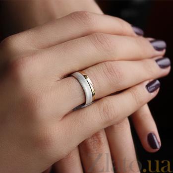 Золотое обручальное кольцо Идеал в комбинированном цвете металла TRF--451237