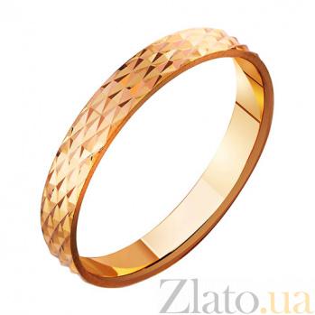 Золотое обручальное кольцо Время любить TRF--411009