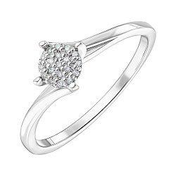 Серебряное кольцо с бриллиантами 000149234