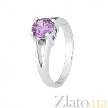 Серебряное кольцо Мелита с аметистовым фианитом 000028306