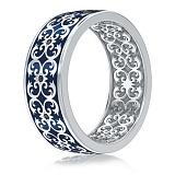 Мужское обручальное кольцо из белого золота Калейдоскоп Любви: В ожидании Чуда