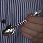Серебряная кофейная ложечка Цветущий сад с чернением (мелкий ковшик) 000007719