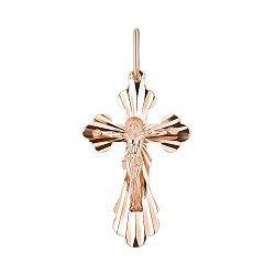 Крестик из красного золота 000141740