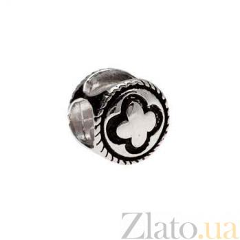 Серебряная родированная бусина Цветы AQA-131510119-1