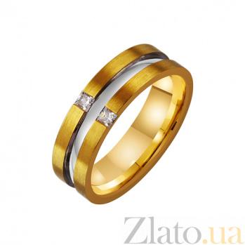Золотое обручальное кольцо с фианитами Неразлучная пара TRF--4421363