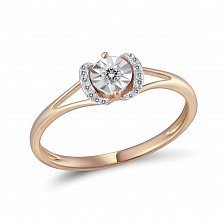 Кольцо Иветта из красного золота с бриллиантами