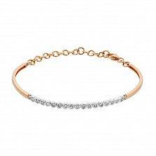 Золотой браслет в комбинированном цвете с бриллиантами 000132939