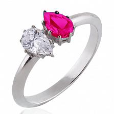 Помолвочное кольцо Josephine с бриллиантом и рубином