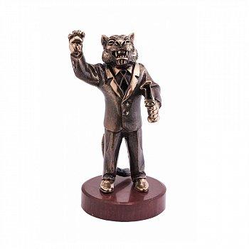 Бронзова скульптура Лідер з холодною емаллю на мармуровій підставці 000051923