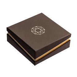Брендовая упаковка Zlato для серег размерами 90х90мм