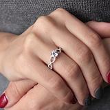 Серебряное кольцо Вечное чувство с цирконием