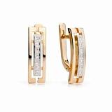 Золотые серьги с бриллиантами Клементина