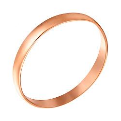 Фаланговое кольцо Гладкая река в красном золоте