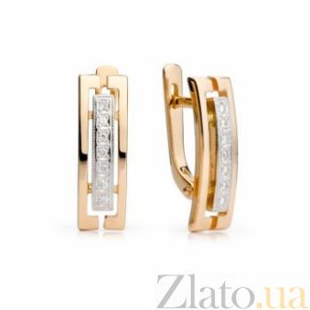 Золотые серьги с бриллиантами Клементина 000030553