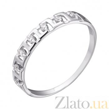 Кольцо из белого золота с фианитами Мишель EDM--КД0436/1