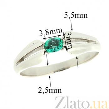 Золотое кольцо в белом цвете с изумрудом Анита ZMX--RE-6029w_K