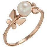 Золотое кольцо Лесная фея с жемчугом
