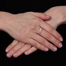 Кольцо из красного золота с цирконием Валенсия