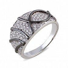 Кольцо Майя из белого золота с бриллиантами