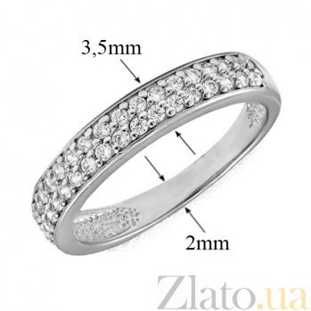 Кольцо в белом золоте Вальс с фианитами 000023157