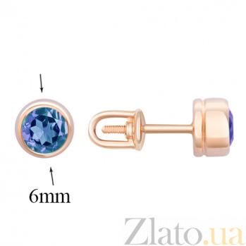 Серьги в красном золоте Фиона с топазом SVA--2190706101/Топаз голубой
