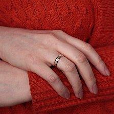 Золотое обручальное кольцо Комбинация с бриллиантами
