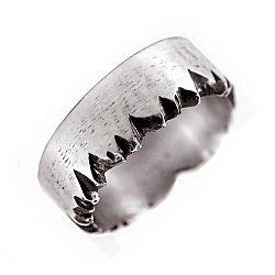 Кольцо из серебра Splinter с чернением 000091402