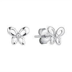 Серебряные серьги-пуссеты 000118202