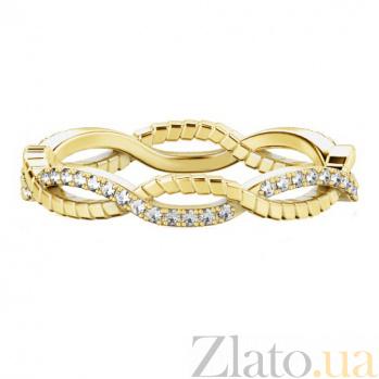 Обручальное кольцо из желтого золота с бриллиантами Золотое сечение 724