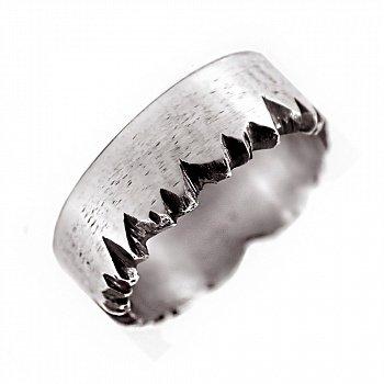 Каблучка зі срібла Splinter з чорнінням 000091402