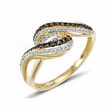 Кольцо из желтого золота Вия с бриллиантами