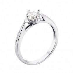 Серебряное кольцо с фианитами 000133093