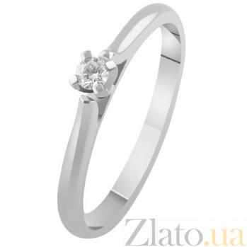 Золотое кольцо с бриллиантом Реджина KBL--К1970/бел/брил