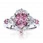Кольцо Argile из белого золота с бриллиантами и розовыми сапфирами R-cjAr-W-3s-28d