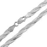 Цепочка из серебра Косичка из 3-х цепочек