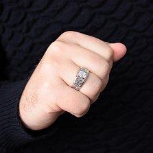 Серебряный перстень Авантюра с белыми фианитами