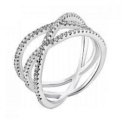 Серебряное кольцо с фианитами Химия