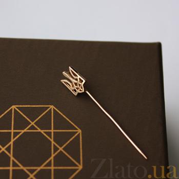 Золотая булавка Герб Украины LEL--09003