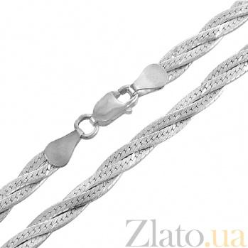 Цепочка из серебра Косичка из 3-х цепочек  ZMX--НЦ 22-025-3
