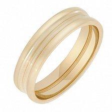 Обручальное кольцо в желтом золоте Основа любви для комби-модели