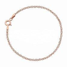 Серебряная браслет Монреаль с позолотой, 3 мм