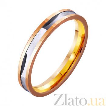 Золотое обручальное кольцо Слияние влюбленных сердец TRF--4111316