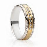Золотое обручальное кольцо Family