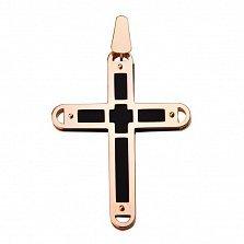 Золотой крестик Криоми с каучуковой вставкой