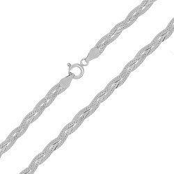 Серебряная цепь с родием, 5 мм 000026083