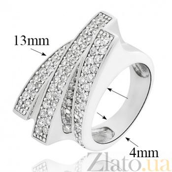 Серебряное кольцо Аполлинария с фианитами 10000069